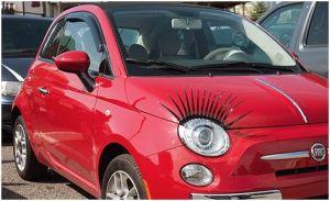 eyelashes car