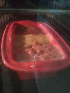 Into the oven...